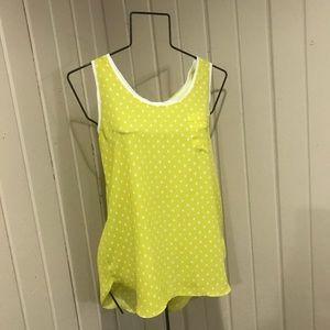 LOFT Bright Yellow Sleeveless Shell M
